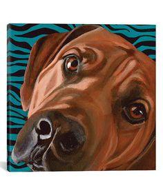 Look what I found on #zulily! Dlynn\'s Dog Series: Bunsen Gallery-Wrapped Canvas #zulilyfinds