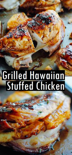 Five Approaches To Economize Transforming Your Kitchen Area Grilled Hawaiian Stuffed Chicken - Recipes Made Easy Grilling Recipes, Cooking Recipes, Healthy Recipes, Grill Meals, Cooking Bread, Grilling Ideas, Entree Recipes, Rice Recipes, Meat Recipes