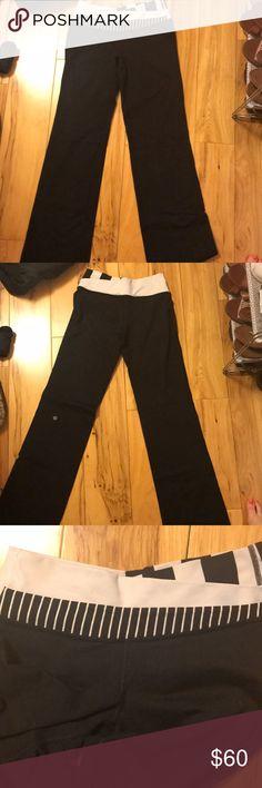 Lulu Lemon yoga pants Black and white band yoga pants from lulu lemon lululemon athletica Pants Leggings