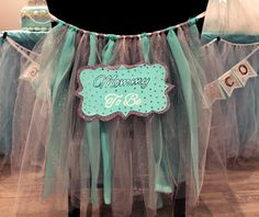 """- This """"Mommy to be tutu"""" is perfect decoration for the back of Mom's chair at her Baby Shower! - It adds attention to her as she enjoys her family and friends company as well as when she's opening ba Baby Shower Balloons, Baby Shower Games, Baby Shower Parties, Friends And Company, Lavender Baby Showers, Baby Shower Gender Reveal, Everything Baby, Balloon Decorations, Baby Boy Shower"""