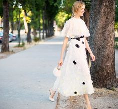 Elena Perminova in Giambattista Valli | Paris Couture Week 2015 #StreetStyle