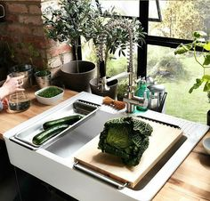 IKEA Fan Favorite: DOMSJO double sink. Get all the cook prep done in the kitchen with this multitasking double sink.