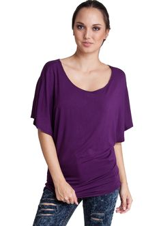 Short Sleeve Dolman Top T342EP, clothing, clothes, womens clothing, jeans, tops, womens dress