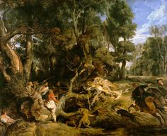 Peter Paul Rubens - Boar Hunt