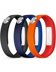 Sony Smartband SWR110 Wrist Strap Blue Red Black Small Size 1280-9636  www.mobilepro.co.uk