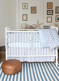 Wave Diamond Nursery Crib Bedding - modern - baby bedding - los angeles - Annette Tatum