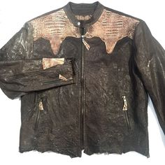 G-Gator Lambskin/Crocodile Custom-Made Jacket