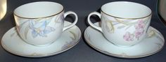 Mikasa Gabriele Fine China Cup and Saucers L 9561 Excellent Condition #Mikasa