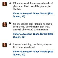 Glass Sword by Victoria Aveyard Glass Sword, Victoria Aveyard, Red Queen, That Way, Feelings