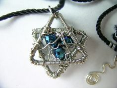 Star of David wire wrapped pendant