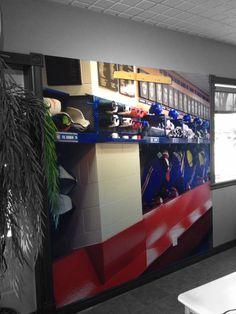 Chambre de hockey sur pinterest salle de hockey crosse for Decoration chambre hockey