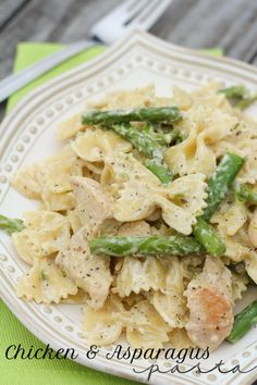 Chicken and Asparagus Pasta Recipe - delicious!(So amazing!! Very creamy! Double sauce recipe)