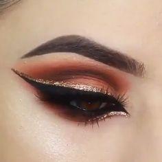 "So beautiful! History of eye makeup ""Eye care"", in other words, ""eye make-up"" has always Makeup Eye Looks, Eye Makeup Art, Eyeshadow Makeup, Makeup Tips, Beauty Makeup, Eyeliner, Smokey Eye For Brown Eyes, Makeup For Brown Eyes, Festival Eye Makeup"