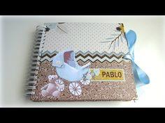 "Álbum scrapbook baby boy ""Pablo"". - YouTube"