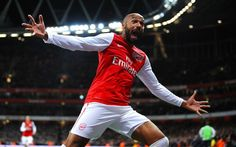 Thierry Henry, celebrating goals against Leeds 2012
