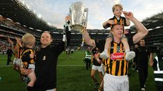Tommy Walsh with his son Finn and Henry Shefflin with his son Henry celebrate after the final whistle in the 2014 All-Ireland hurling final replay Rugby Men, Replay, Finals, Ash, Ireland, Career, Gallery, Celebrities, Sports