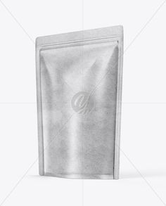 Kraft Paper Stand-up Pouch Mockup - Half Side View