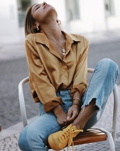 70 impressive and trendy street style outfits ideas for you 23 Outfits Nachstylen, Spring Outfits, Casual Outfits, Fashion Outfits, Sneakers Fashion, Sneakers Outfit Summer, Trousers Fashion, School Outfits, Looks Chic