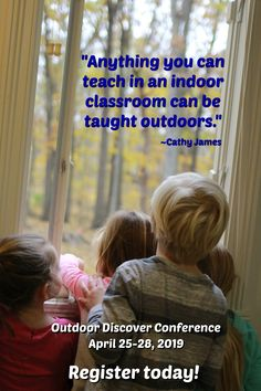 It's not too late to register for the Outdoor Discover Conference! Teach Preschool, Preschool Classroom, Outdoor Art, Outdoor Play, Pre Writing Practice, Sand And Water, Outdoor Learning, Creative Thinking, Fine Motor Skills