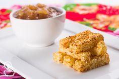 aprenda a fazer tirinhas de tapioca que servem como um delicioso petisco