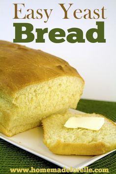 Easy Yeast Bread Recipe | homemadeforelle.com