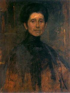Olga Boznańska | Autoportret / Self-Portrait, 1906, oil on board, 67,5 x 57 cm, Muzeum Narodowe, Kraków