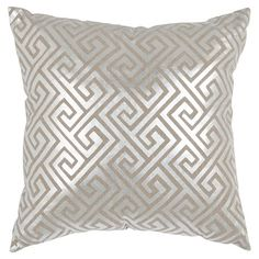 Found it at Wayfair - Jayden Linen Decorative Pillow in Silver (Set of 2)