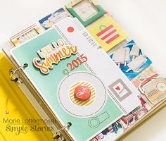6x8 Yellow Sn@p! Binder by design team member Marie Lottermoser
