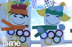 HAPPY OLYMPICS! Holiday Activities, Craft Activities For Kids, Classroom Activities, Winter Fun, Winter Time, Art Classroom, Classroom Ideas, Cute Crafts, Crafts For Kids