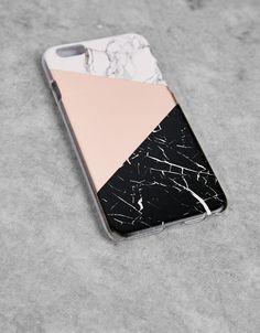 Coque à effet marbre pour iPhone 6/6s - Accessoires tablette & téléphone portable - Bershka France