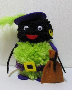 Zwarte Piet knutselen. Gevonden op http://hetkreatief.blogspot.nl/2011/11/sintknutsels.html.
