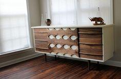 MidCentury Modern Dresser Blue On Hold von RevitalizedArtistry