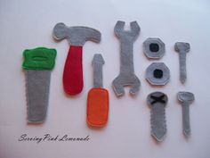 Free Sewing Pattern - Felt Tools from the Stuffed animals and softies Free Sewing Patterns Category, Free Crochet Patterns, Free Knitting Patterns