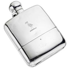 Victorian Silver Flask   From a unique collection of vintage barware at http://www.1stdibs.com/jewelry/silver-flatware-silverplate/barware/