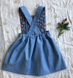 Tui Pinafore - sewing pattern by Below The Kōwhai Tunic Sewing Patterns, Baby Girl Dress Patterns, Sewing Patterns For Kids, Pinafore Dress Pattern, Girls Pinafore Dress, Frocks For Girls, Girls Dresses Sewing, Handmade Clothes, Create