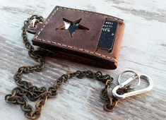 Mens leather wallets/Leather wallets for men/Biker chain wallets/Leather chain wallet/Handmade leather wallet