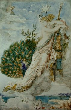 The Peacock complaining to Juno - Gustave Moreau
