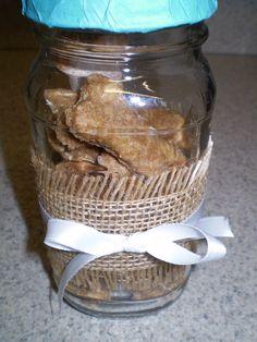Homemade organic dog cookies.