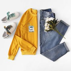 roupas Home Trends home color trends 2018 Teen Fashion Outfits, Teenage Outfits, Outfits For Teens, Trendy Outfits, Winter Outfits, Summer Outfits, Jugend Mode Outfits, Pinterest Fashion, Mode Hijab