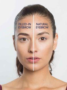 Wenn Du keine Lust hast, Dein ganzes Gesicht zu schminken, kannst Du schon einen starken Effekt erzielen, wenn Du nur Deine Augenbrauen ausfüllst.