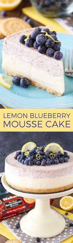 Lemon Blueberry Mous