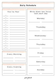 Free Daily scheduler printable to keep you on track and your day organized and productive,,yes! Fix Bad Credit, Fix Your Credit, Credit Score, Organization, Organizing, Business Tips, Schedule, How To Remove, Printables