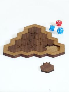 Rosh HaShanah Wooden mind game Pomegranate and by StudioArmadillo Wood Games, Challenging Puzzles, Rosh Hashanah, Walnut Veneer, Yellow And Brown, Surprise Gifts, Natural Materials, Honeycomb, Pomegranate