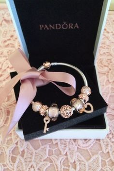Absolutely gorgeous rose gold pandora bracelet