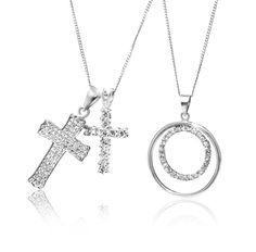 Silver and Cubic Zirconia Pendants From Left: *Prices Valid Until 25 Dec 2013 Gold Diamond Rings, Pendants, Earrings, Silver, Christmas, Crafts, Accessories, Shopping, Jewelry