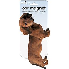@Overstock - Theme: Dachshund  Materials: Plastic  Dimensions: 8 inches high x 4 inches widehttp://www.overstock.com/Crafts-Sewing/Paper-House-Dachshund-Car-Magnet/6649453/product.html?CID=214117 $8.98