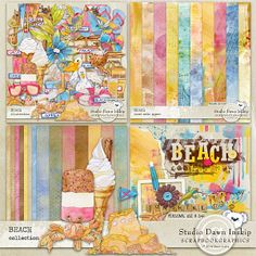 BEACH COLLECTION By Studio Dawn Inskip at Scrapbookgraphics http://shop.scrapbookgraphics.com/Beach-Collection.html