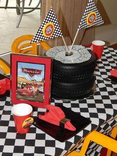 Disney Pixar Car Theme Birthday Party | CatchMyParty.com #chiquitaparty