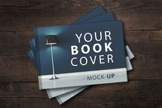 Sale - Landscape Book Cover Mockup Graphics Landscape Book Cover Mock UP- High quality- 300 DPI- Organized layers- Easy to edit by attraax