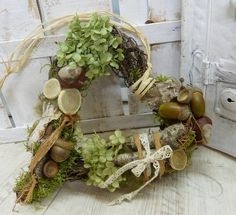 Natural heart ♥ ♥ forest heart door wreath country house - a designer piece of art wreath on DaWanda Diy Spring Wreath, Diy Wreath, Door Wreaths, Grapevine Wreath, Deco Floral, Arte Floral, Floral Design, Nature Crafts, Autumn Inspiration